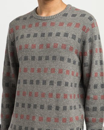4 Mini Jacquard Sweater Grey MV41SRMJ RVCA