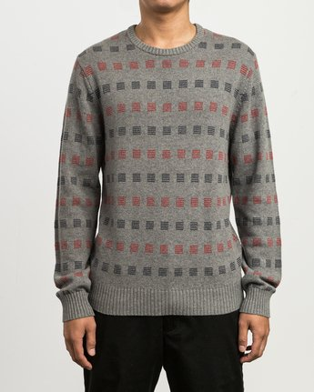 1 Mini Jacquard Sweater Grey MV41SRMJ RVCA