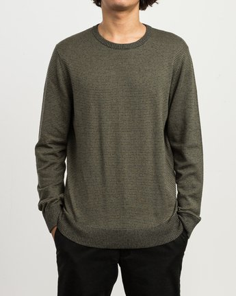 1 Layback Striped Sweater Grey MV42SRLB RVCA