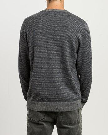 3 Layback Striped Sweater Grey MV42SRLB RVCA