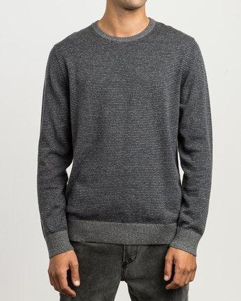 1 Layback Striped Sweater Grey MV42SRLB RVCA