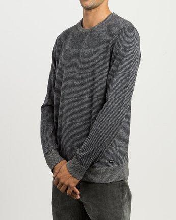 2 Layback Striped Sweater Grey MV42SRLB RVCA