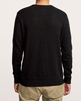 3 Smith Street Knit Sweater Black MV53VRSS RVCA