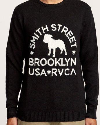 4 Smith Street Knit Sweater Black MV53VRSS RVCA