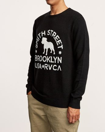 2 Smith Street Knit Sweater Black MV53VRSS RVCA