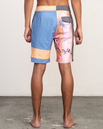 "5 Sage Vaughn Collage Trunk - 19"" Boardshorts for Men  N1BSRBRVP9 RVCA"