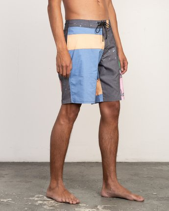 "7 Sage Vaughn Collage Trunk - 19"" Boardshorts for Men  N1BSRBRVP9 RVCA"