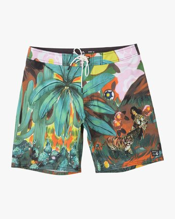 "Mel G Tiger Palm - 18"" Boardshorts for Men  N1BSRCRVP9"