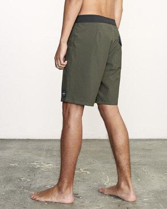 "3 VA Trunk 19"" - Board Shorts for Men Green N1BSRIRVP9 RVCA"