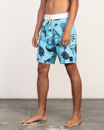 "2 VA Trunk Print - 19"" Boardshorts for Men Blue N1BSRJRVP9 RVCA"