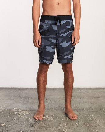 "1 VA Trunk Print - 19"" Boardshorts for Men Grey N1BSRJRVP9 RVCA"