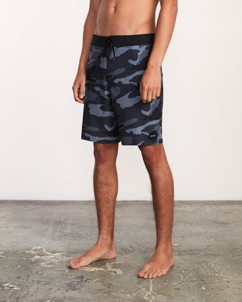 "2 VA Trunk Print - 19"" Boardshorts for Men Grey N1BSRJRVP9 RVCA"