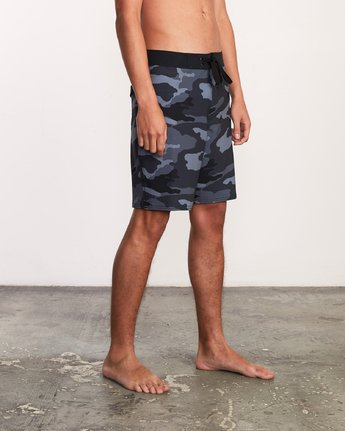 "6 VA Trunk Print - 19"" Boardshorts for Men Grey N1BSRJRVP9 RVCA"