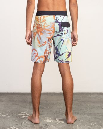 "5 Sage Vaughn Floral Trunk - 19"" Boardshorts for Men  N1BSRKRVP9 RVCA"