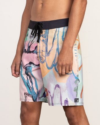 "8 Sage Vaughn Floral Trunk - 19"" Boardshorts for Men  N1BSRKRVP9 RVCA"