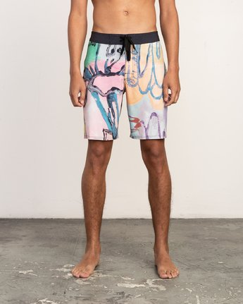 "2 Sage Vaughn Floral Trunk - 19"" Boardshorts for Men  N1BSRKRVP9 RVCA"