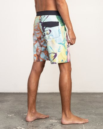 "6 Sage Vaughn Floral Trunk - 19"" Boardshorts for Men  N1BSRKRVP9 RVCA"