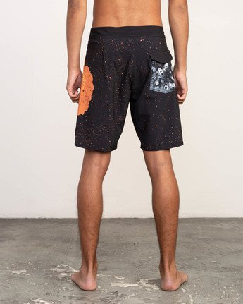 "4 Mark Oblow Davies Trunk - 19"" Boardshorts for Men Black N1BSRLRVP9 RVCA"