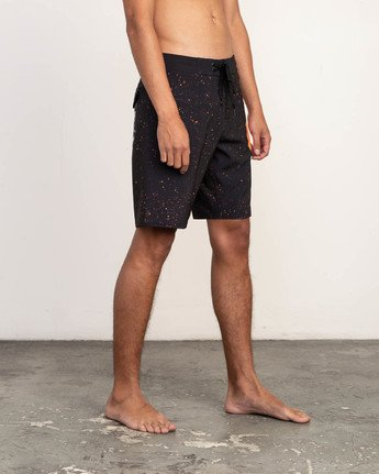 "3 Mark Oblow Davies Trunk - 19"" Boardshorts for Men Black N1BSRLRVP9 RVCA"