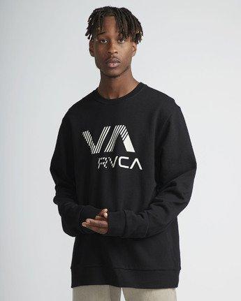 2 VA Rvca Crew Fleece Black N1CRRXRVP9 RVCA