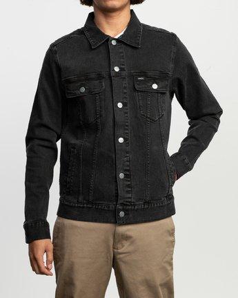 1 Daggers Denim Jacket Black N1JKRARVP9 RVCA