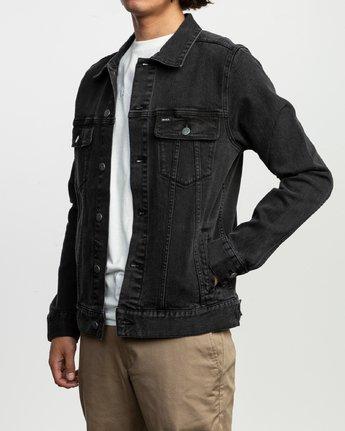3 Daggers Denim Jacket Black N1JKRARVP9 RVCA