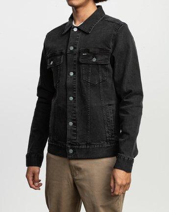 4 Daggers Denim Jacket Black N1JKRARVP9 RVCA