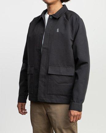 3 Gerrard Waist Cut Jacket Black N1JKRCRVP9 RVCA