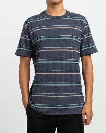 1 Avila Stripe T-Shirt Blue N1KTRCRVP9 RVCA