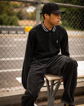 1 Hi Grade ANP - Long Sleeves Polo for Men Black N1KTRERVP9 RVCA