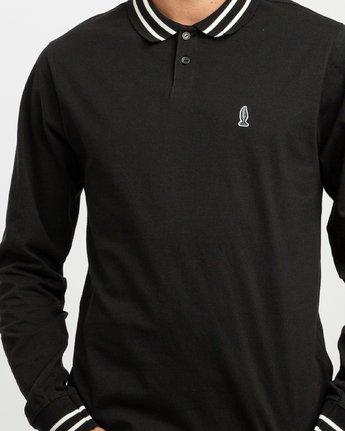 5 Hi Grade ANP - Long Sleeves Polo for Men Black N1KTRERVP9 RVCA