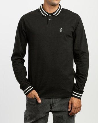 2 Hi Grade ANP - Long Sleeves Polo for Men Black N1KTRERVP9 RVCA