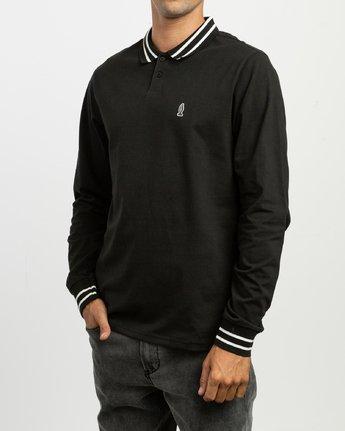 3 Hi Grade ANP - Long Sleeves Polo for Men Black N1KTRERVP9 RVCA