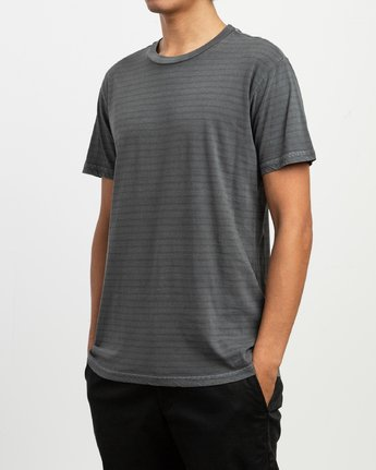 2 Automatic Stripe T-Shirt Black N1KTRFRVP9 RVCA