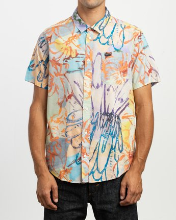 1 Vaughn Floral SS Shirt  N1SHRHRVP9 RVCA