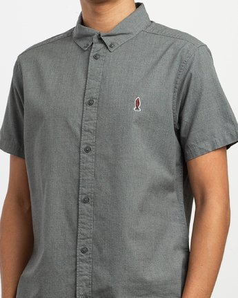 4 Dmote ANP Twist - Short Sleeves Shirt for Men Black N1SHRKRVP9 RVCA