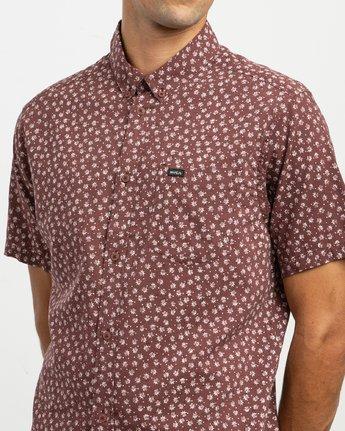 4 Ficus Floral - Short Sleeves Shirt for Men Rot N1SHRWRVP9 RVCA
