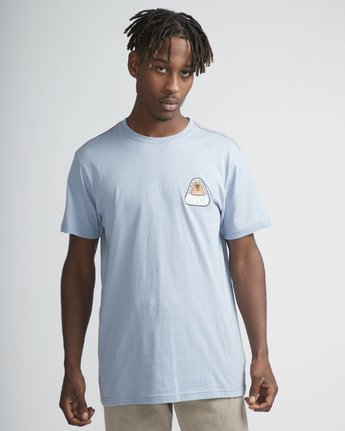 0 Castaway SS T-Shirt Blue N1SSRARVP9 RVCA