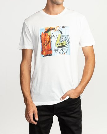 2 Kick Tail- T-Shirt à manches courtes pour Homme Blanc N1SSRHRVP9 RVCA