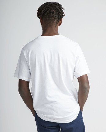 3 Motors Fill SS T-Shirt White N1SSRMRVP9 RVCA