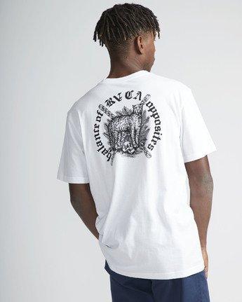 3 Wildcat SS T-Shirt White N1SSRYRVP9 RVCA