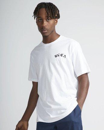 2 Wildcat SS T-Shirt White N1SSRYRVP9 RVCA