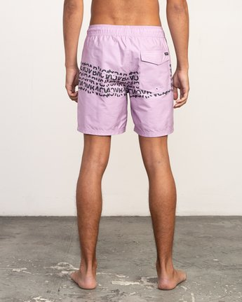 "4 Shattered Elastic Trunk - 17"" Boardshorts for Men Purple N1VORBRVP9 RVCA"