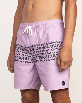 "7 Shattered Elastic Trunk - 17"" Boardshorts for Men Purple N1VORBRVP9 RVCA"