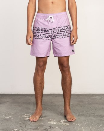 "1 Shattered Elastic Trunk - 17"" Boardshorts for Men Purple N1VORBRVP9 RVCA"