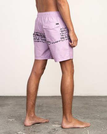 "5 Shattered Elastic Trunk - 17"" Boardshorts for Men Purple N1VORBRVP9 RVCA"