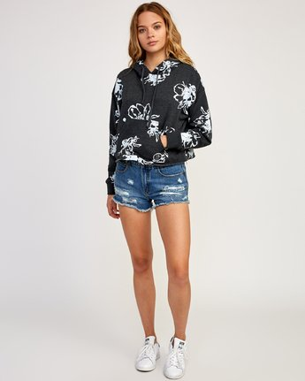 4 Sage Vaughn Floral - Hoodie for Women Grey N3HORARVP9 RVCA