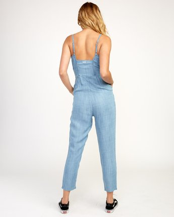 3 Flasher Chambray Jumpsuit Blue N3ONRBRVP9 RVCA