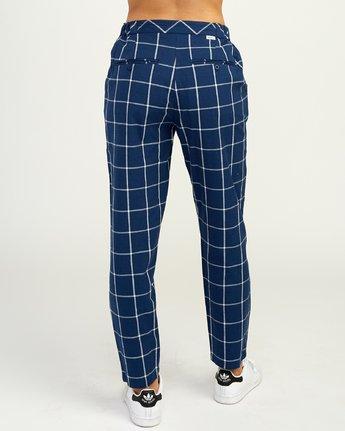 5 Hey Now Grid Pants Blue N3PTRDRVP9 RVCA