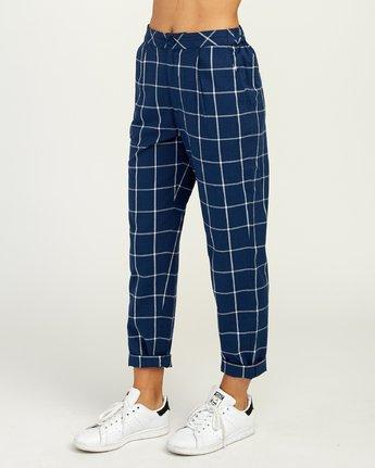 4 Hey Now Grid Pants Blue N3PTRDRVP9 RVCA